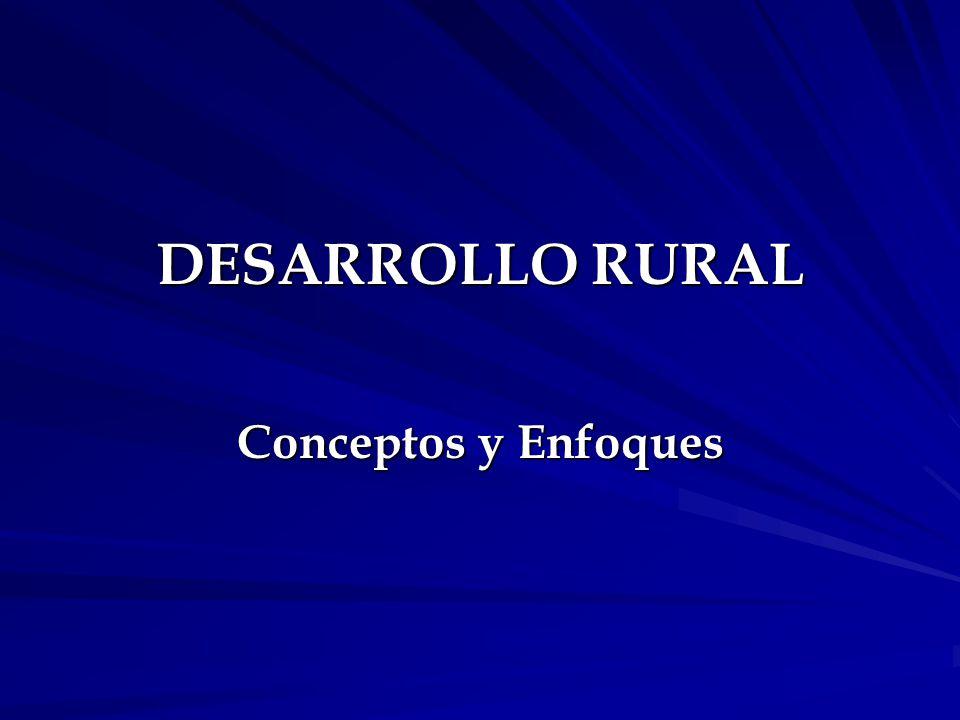 DESARROLLO RURAL Conceptos y Enfoques
