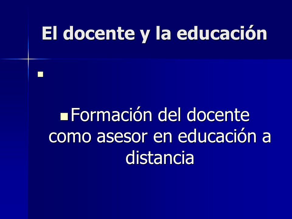 El docente y la educación