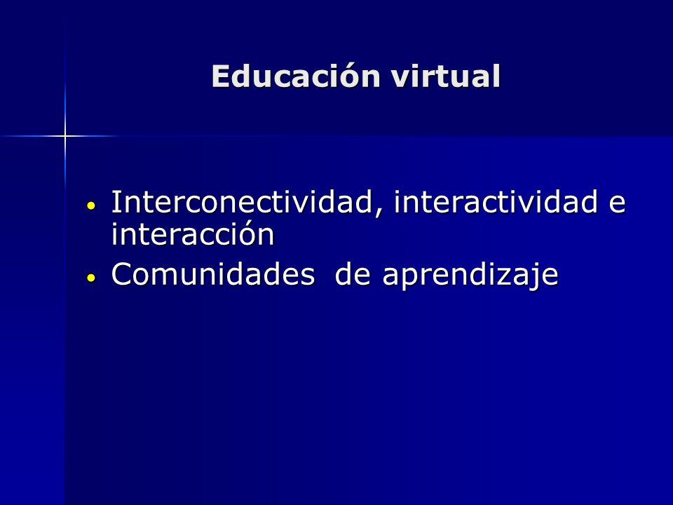 Interconectividad, interactividad e interacción
