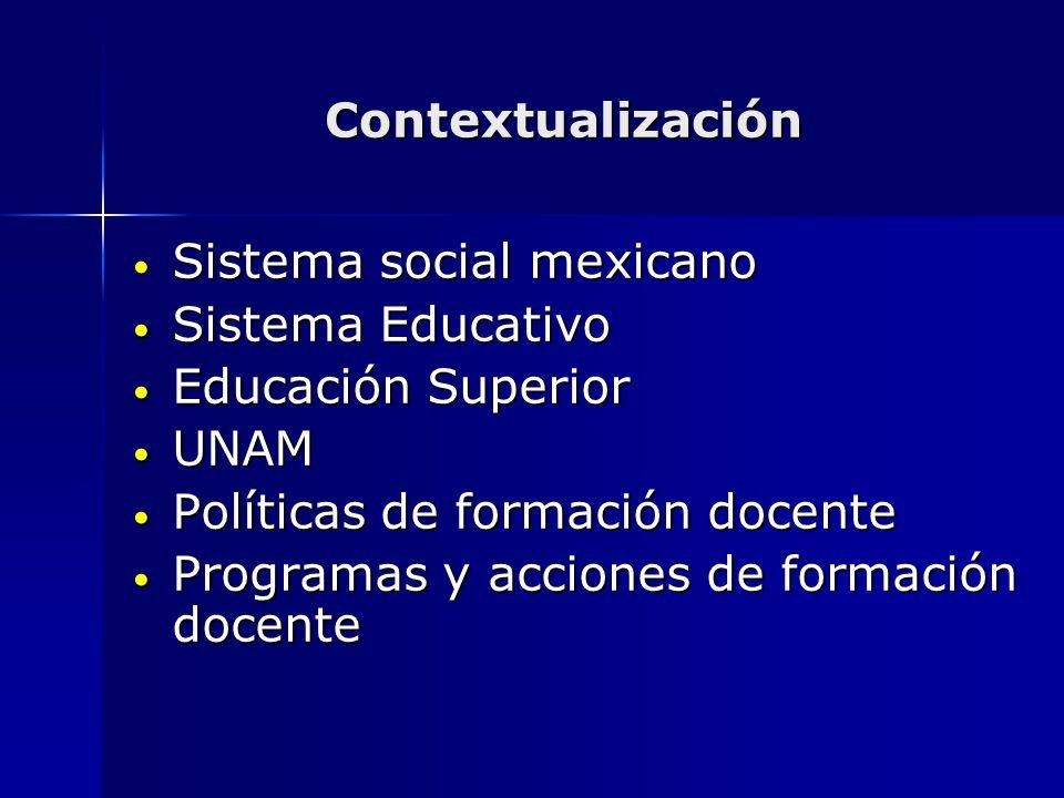 Sistema social mexicano Sistema Educativo Educación Superior UNAM