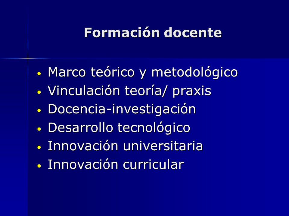 Marco teórico y metodológico Vinculación teoría/ praxis