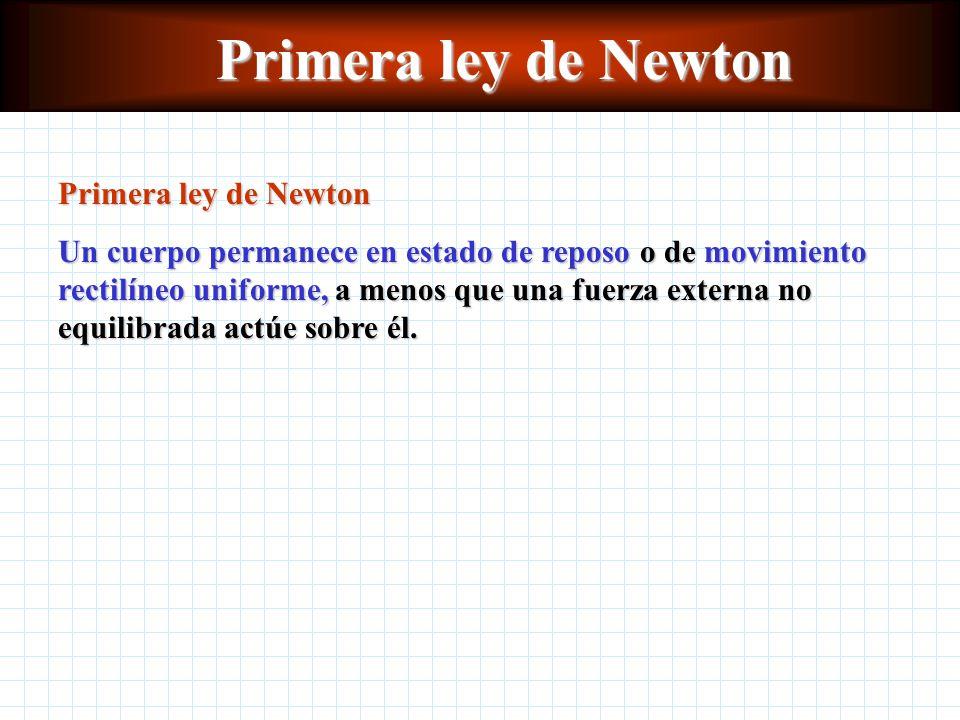 Primera ley de Newton Primera ley de Newton