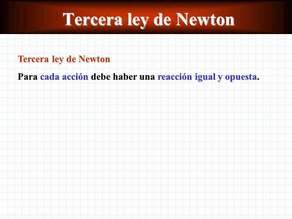 Tercera ley de Newton Tercera ley de Newton