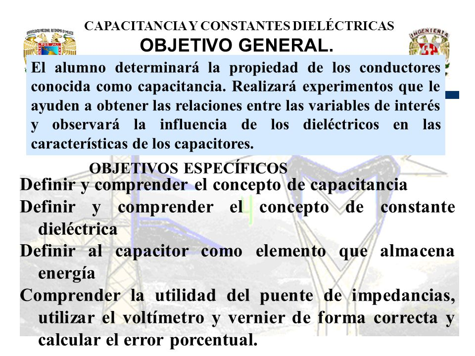CAPACITANCIA Y CONSTANTES DIELÉCTRICAS
