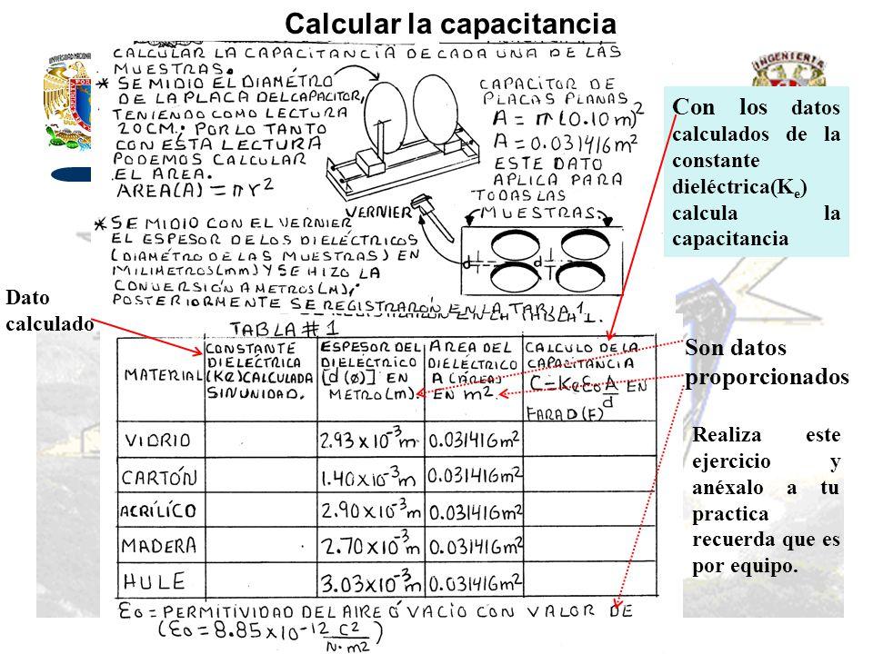 Calcular la capacitancia