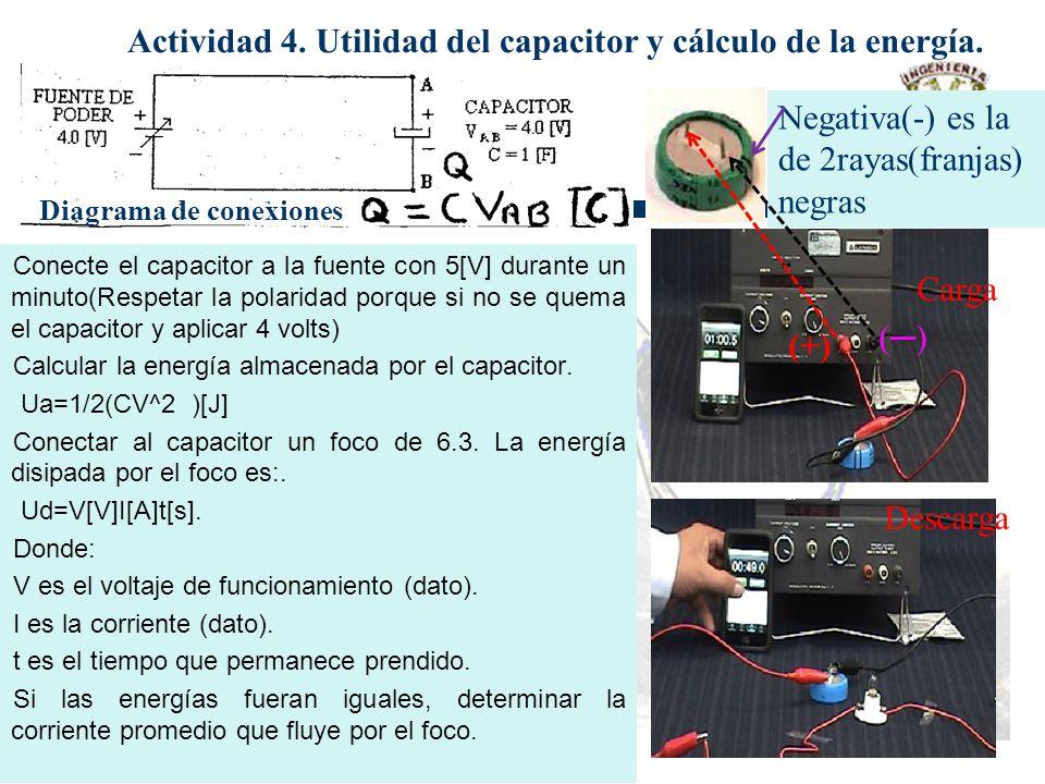 Actividad 4. Utilidad del capacitor y cálculo de la energía.