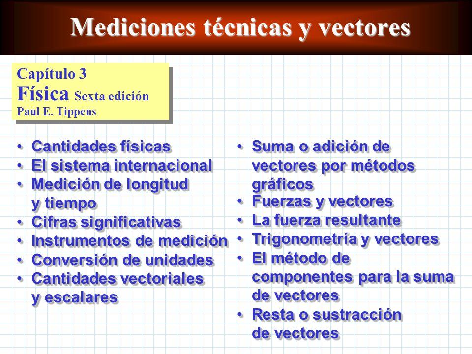 Mediciones técnicas y vectores