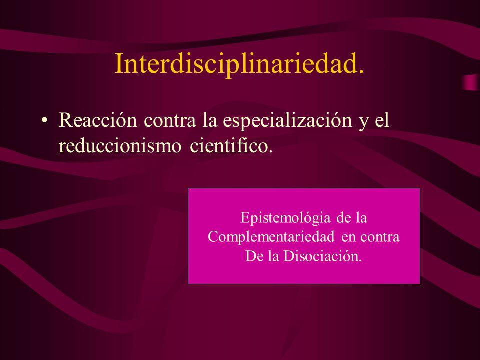 Interdisciplinariedad.
