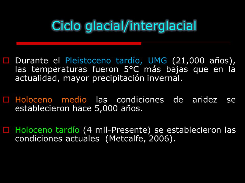 Ciclo glacial/interglacial
