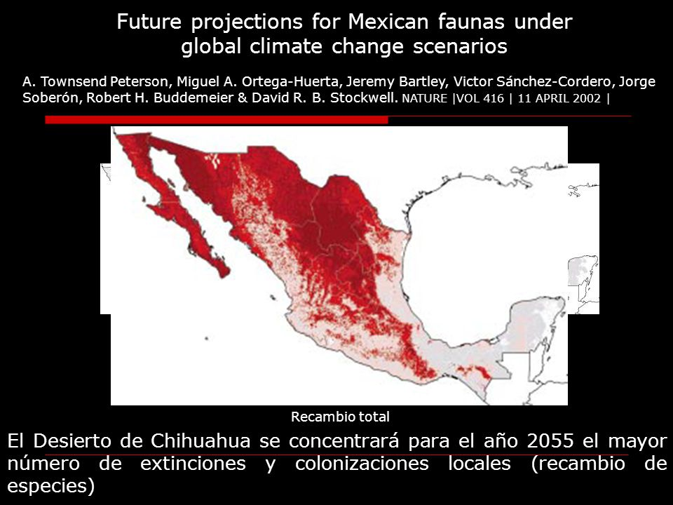 Future projections for Mexican faunas under