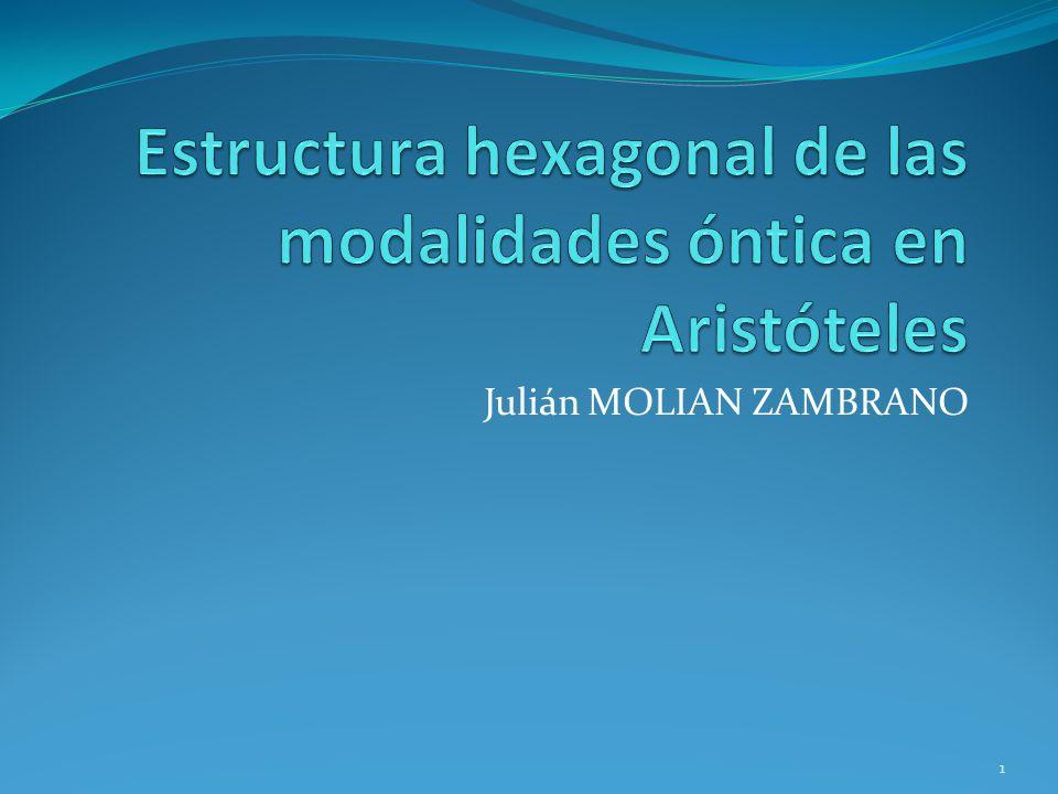 Estructura hexagonal de las modalidades óntica en Aristóteles