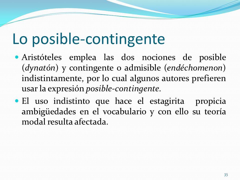 Lo posible-contingente