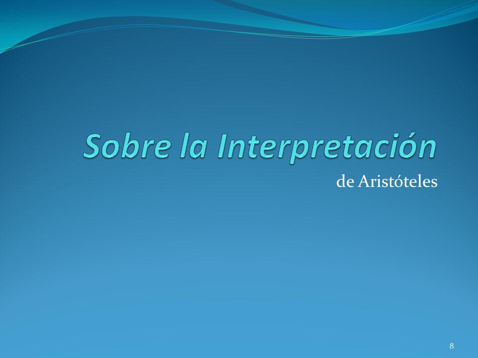 Sobre la Interpretación