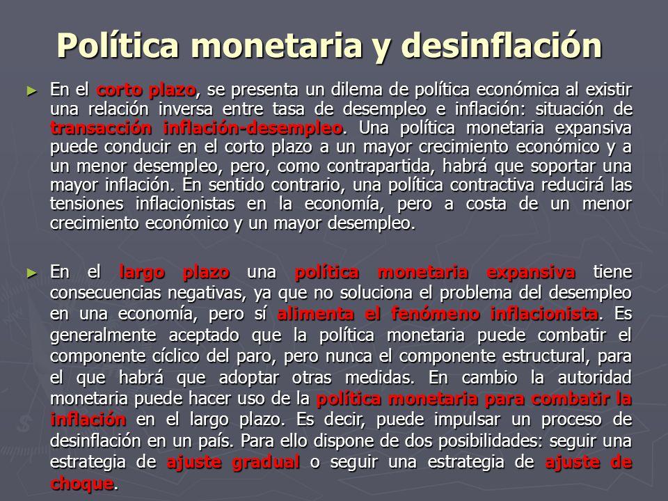 Política monetaria y desinflación