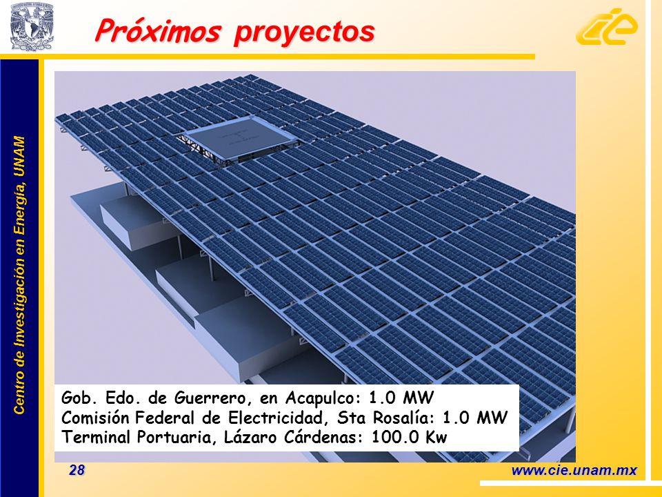 Próximos proyectos Gob. Edo. de Guerrero, en Acapulco: 1.0 MW