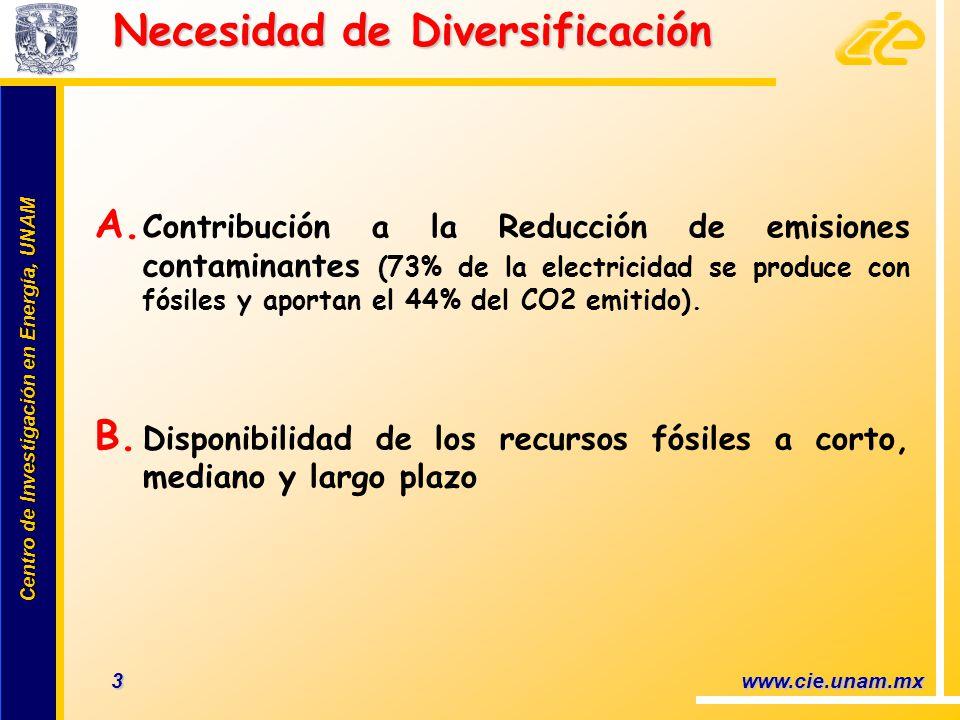 Necesidad de Diversificación