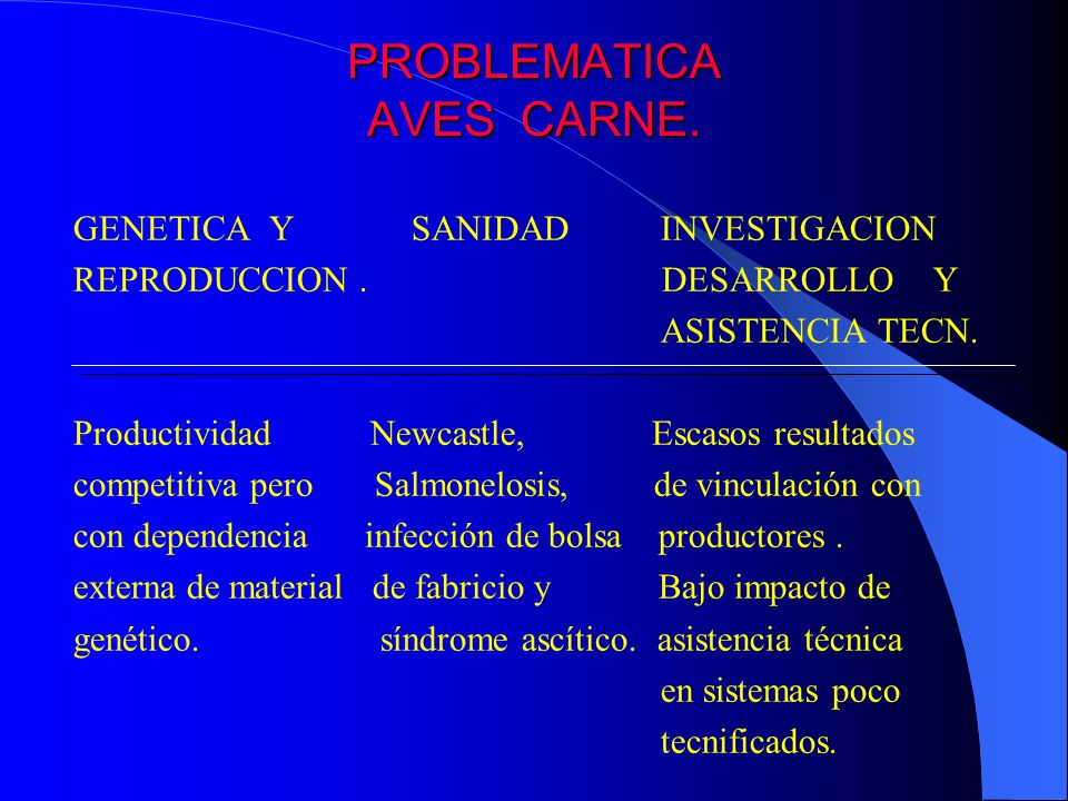 PROBLEMATICA AVES CARNE.