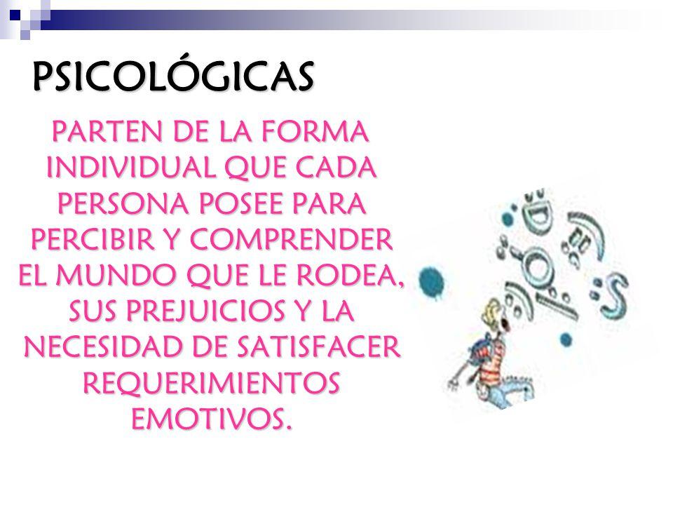 PSICOLÓGICAS