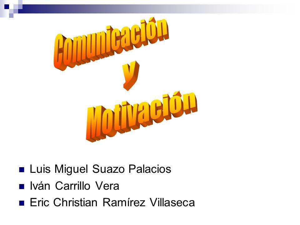 Comunicación y Motivación Luis Miguel Suazo Palacios