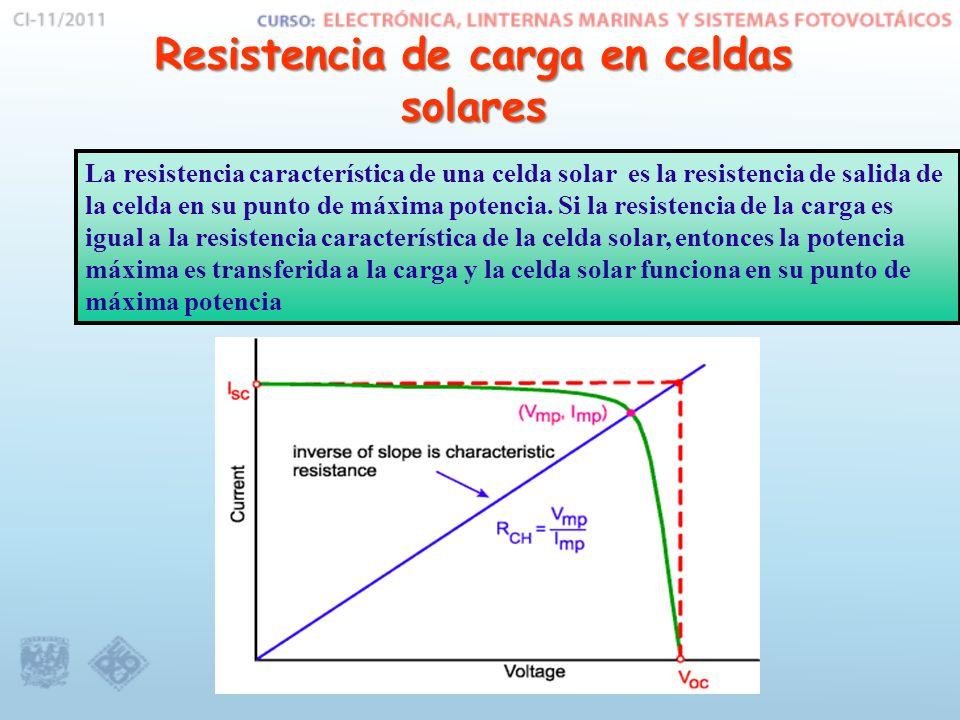 Resistencia de carga en celdas solares