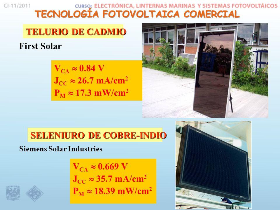 TECNOLOGÍA FOTOVOLTAICA COMERCIAL