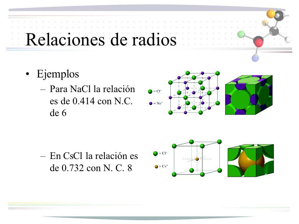 Relaciones de radios Ejemplos