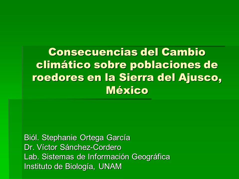 Consecuencias del Cambio climático sobre poblaciones de roedores en la Sierra del Ajusco, México