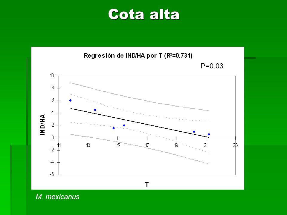 Cota alta P=0.03 M. mexicanus