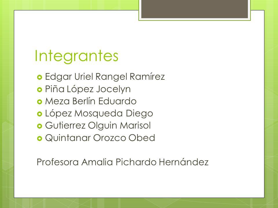 Integrantes Edgar Uriel Rangel Ramírez Piña López Jocelyn