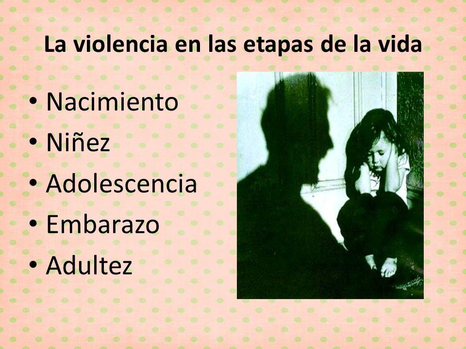 La violencia en las etapas de la vida