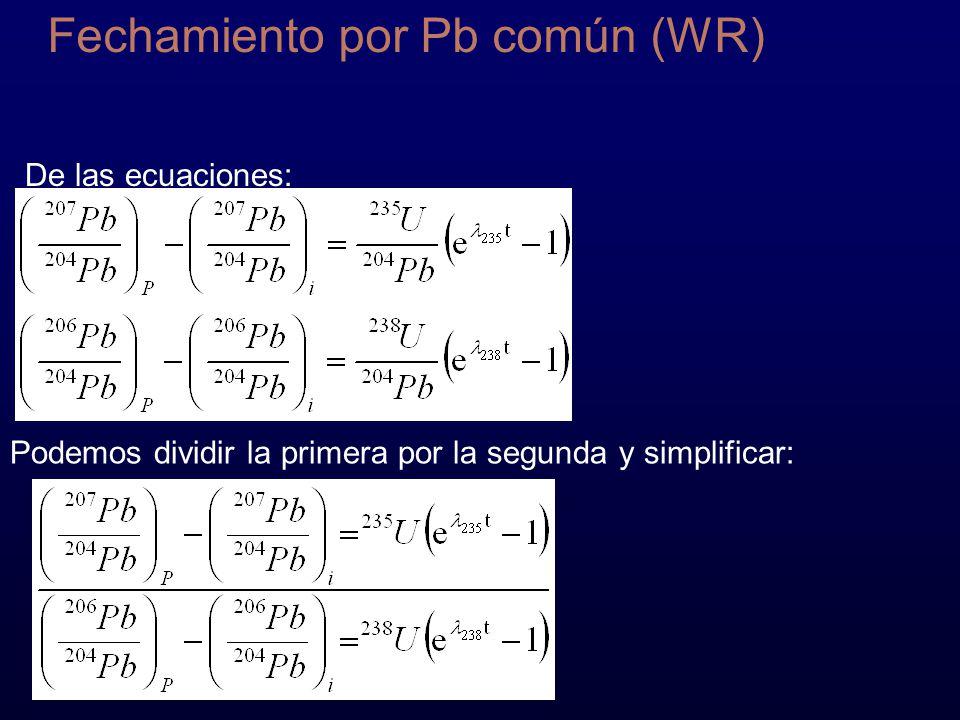 Fechamiento por Pb común (WR)