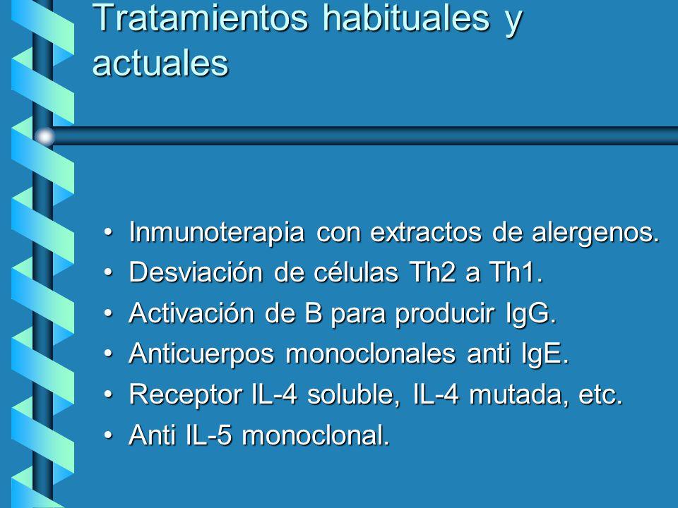 Tratamientos habituales y actuales