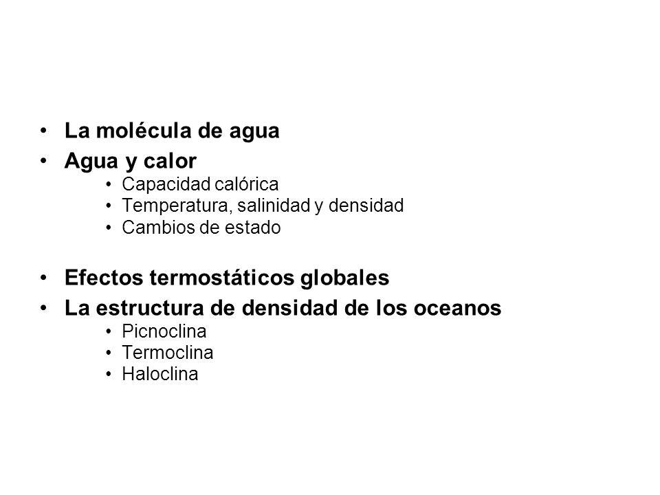 Efectos termostáticos globales