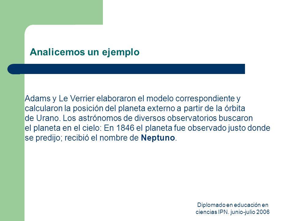 Diplomado en educación en ciencias IPN. junio-julio 2006
