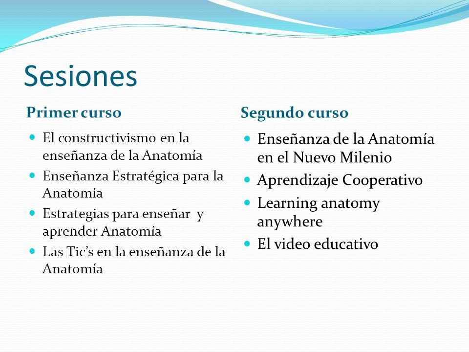 Sesiones Primer curso Segundo curso