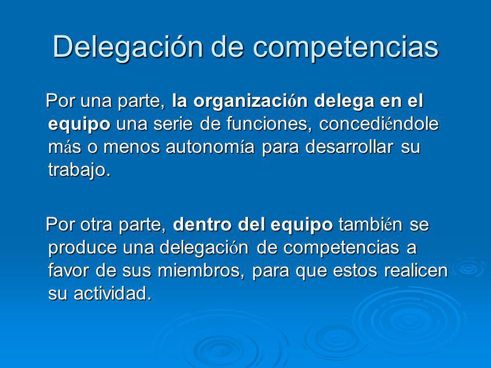 Delegación de competencias