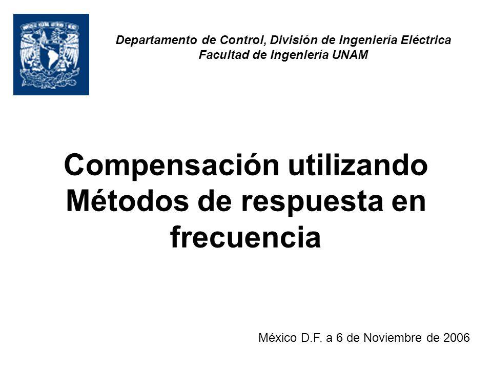 Compensación utilizando Métodos de respuesta en frecuencia