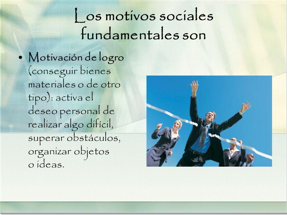 Los motivos sociales fundamentales son