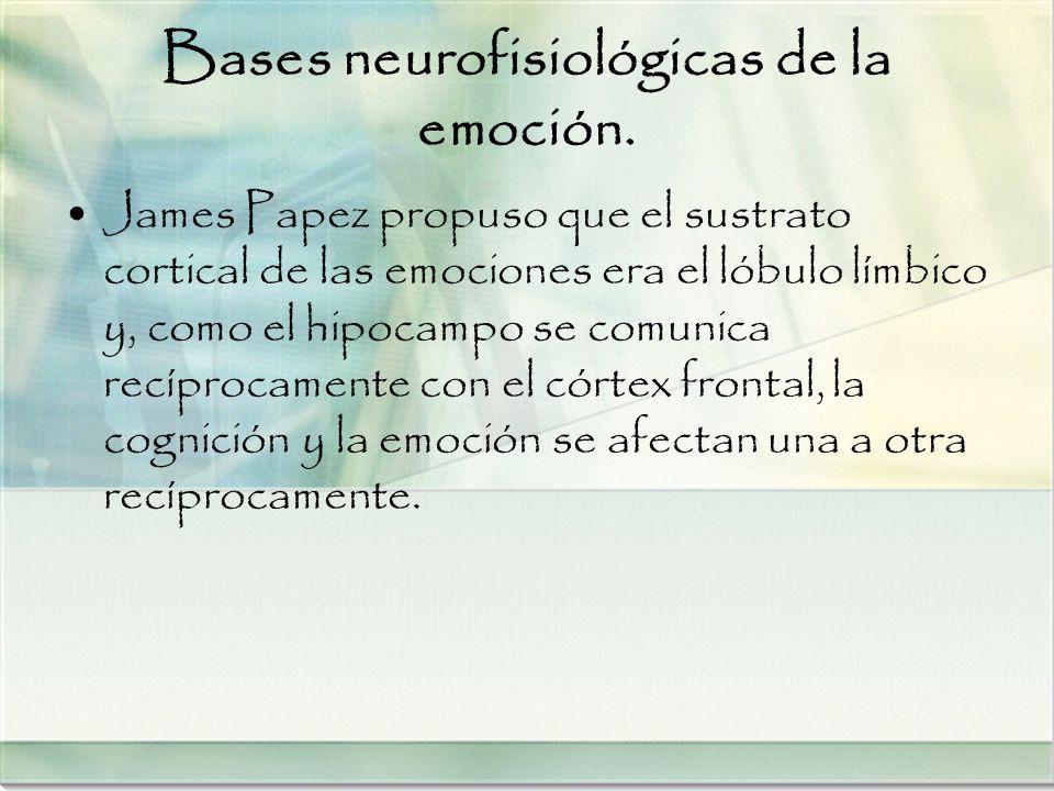 Bases neurofisiológicas de la emoción.
