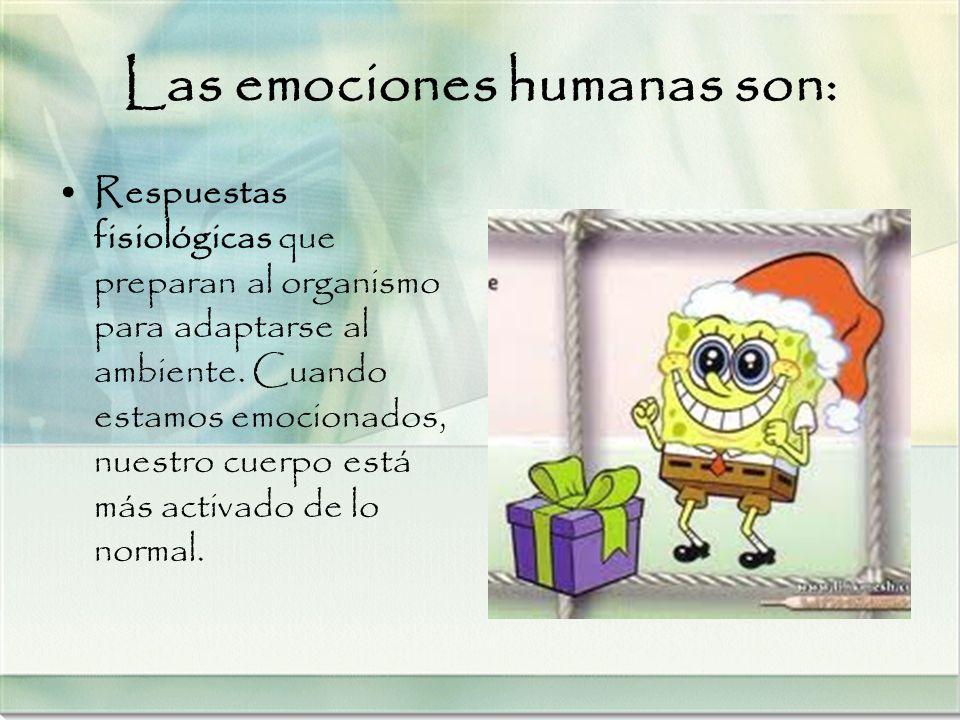 Las emociones humanas son: