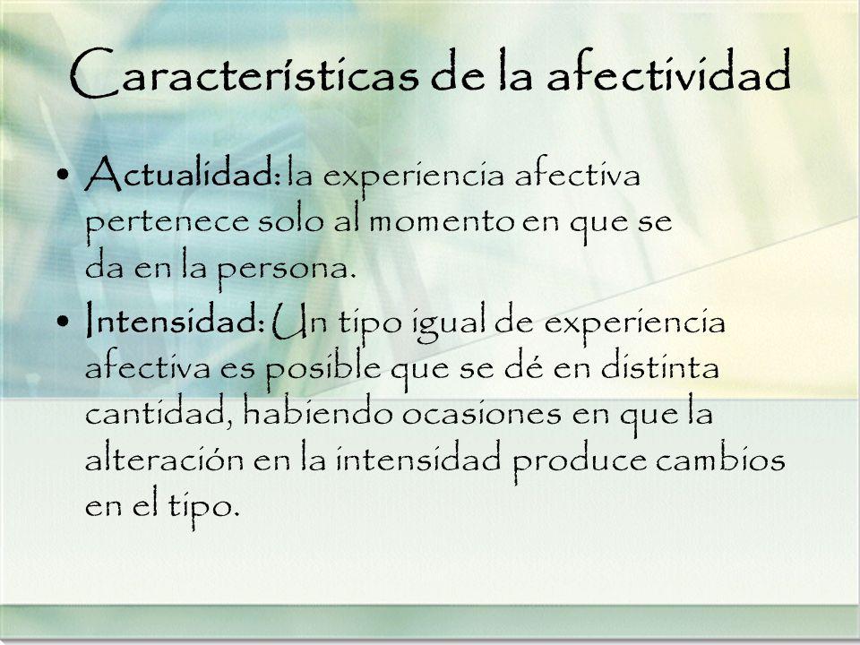 Características de la afectividad