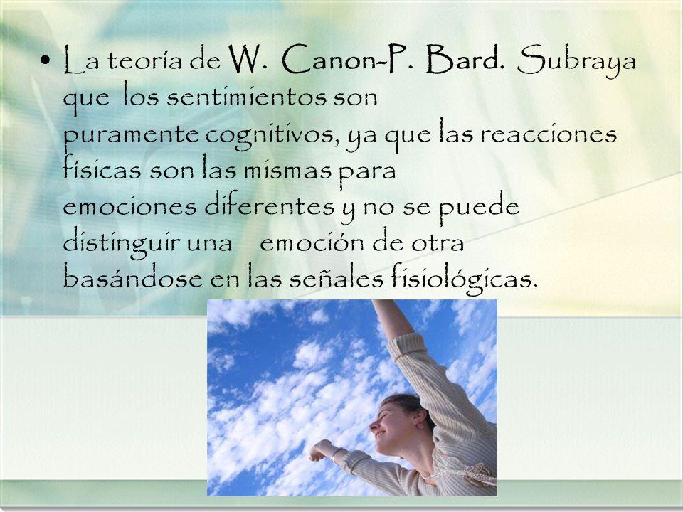 La teoría de W. Canon-P. Bard