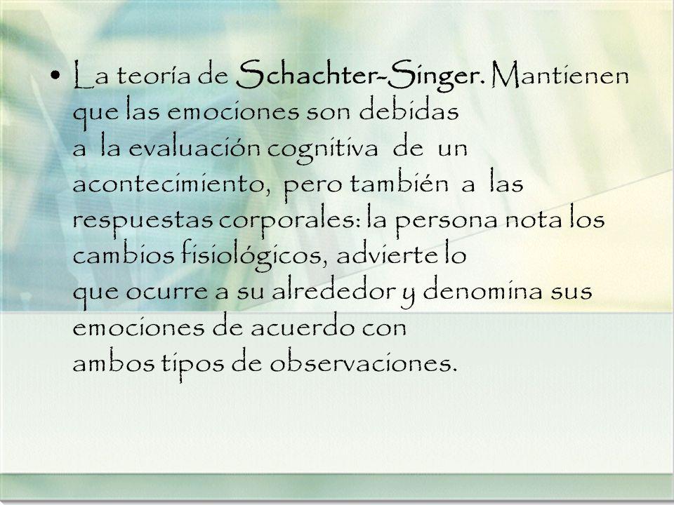 La teoría de Schachter-Singer