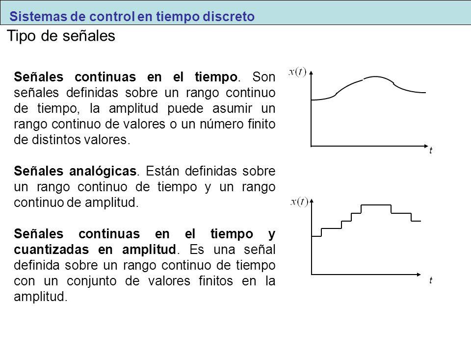 Tipo de señales Sistemas de control en tiempo discreto