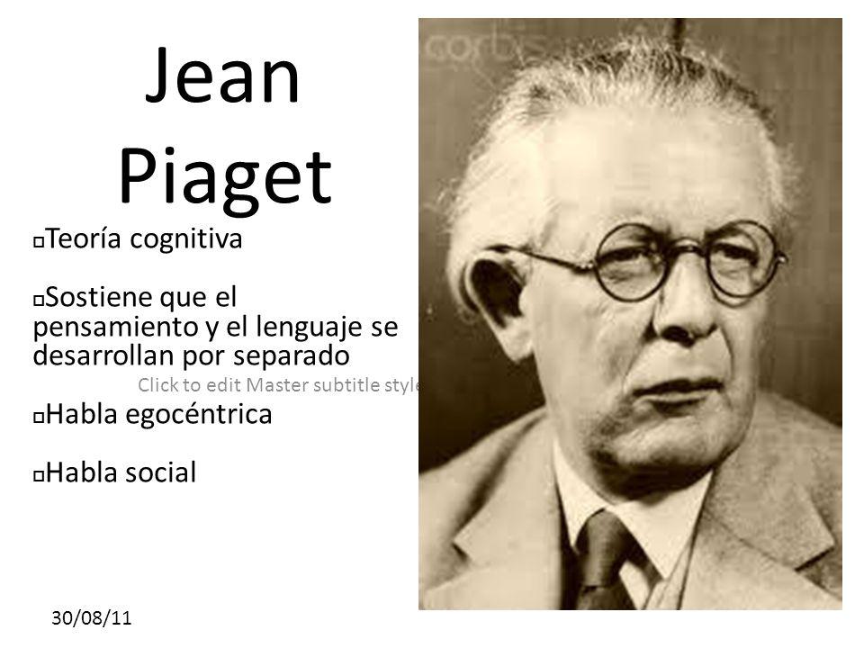 Jean Piaget Teoría cognitiva