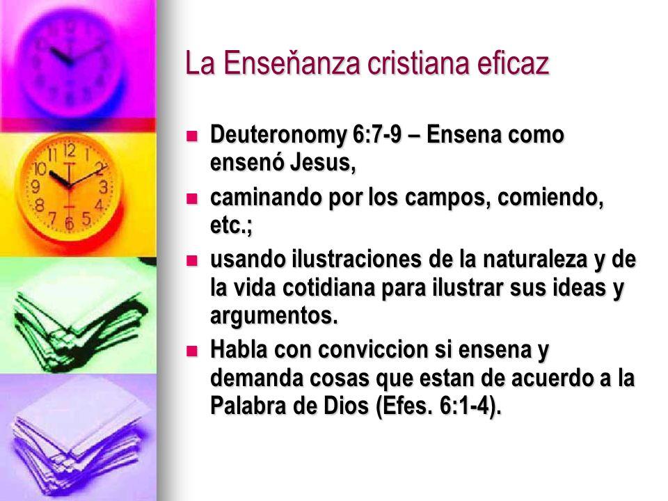 La Enseňanza cristiana eficaz