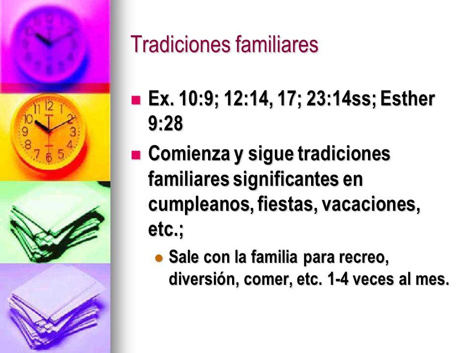 Tradiciones familiares