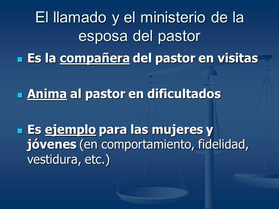 El llamado y el ministerio de la esposa del pastor