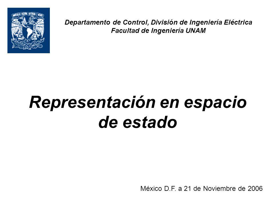 Representación en espacio de estado