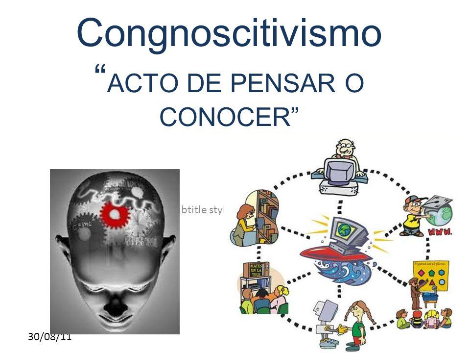 Congnoscitivismo ACTO DE PENSAR O CONOCER